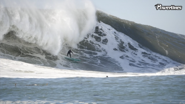 MAVERICKS LEFT: HEALEY BARRELED [POWERLINES]