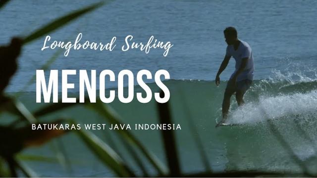 Longboard Surfing with Mencoss in Batukaras #Batukarasbagus