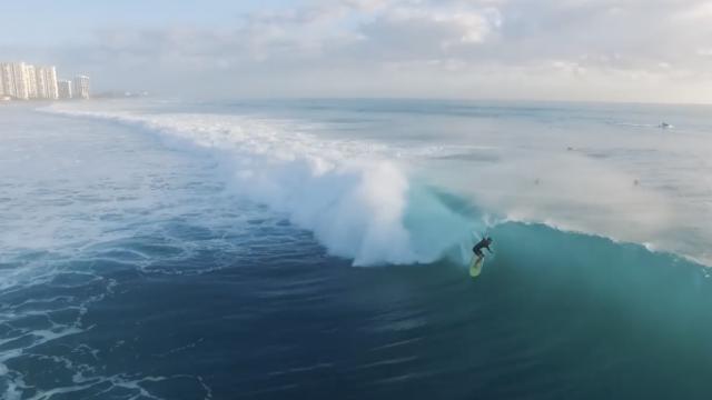 Surfing Winter Storm Riley  (Boca Inlet)