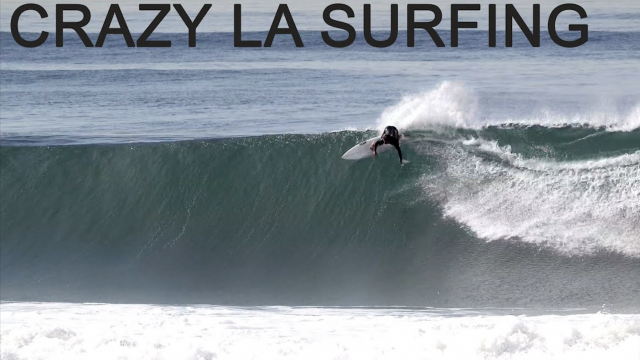 An action packed surf crew hits Los Angeles latest swell