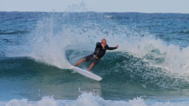 Kelly Slater And His '5-Fin' Webber At D-Bah