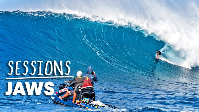 Billy Kemper And Kai Lenny Lead The Elite Big Wave Pack At Perfect Jaws | Sessions