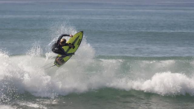 PATTY G's FIRST SURF ON CI's NEW NECK BEARD 2