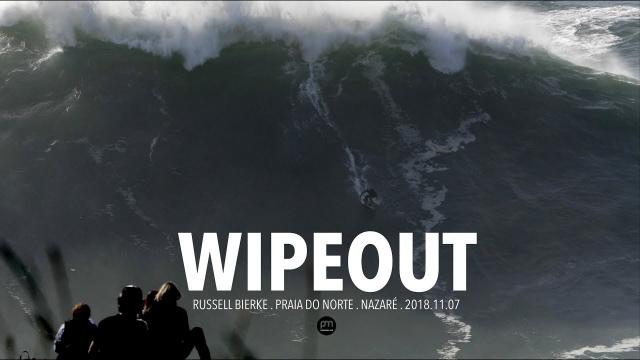 Wipeout . Russell Bierke . Raw Footage @ Nazaré, Portugal