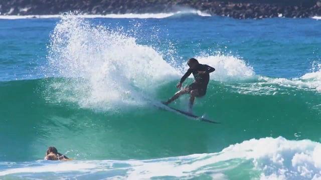 AQSS Amazing Grace Retro Fish Funboard Surfboard ft Beau Young