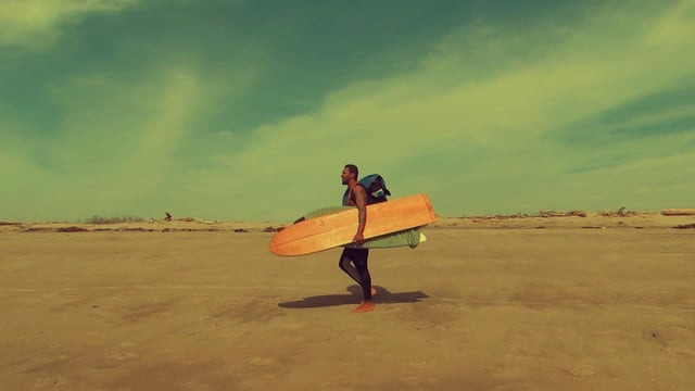 Alaia Surfing in Lower Trestles