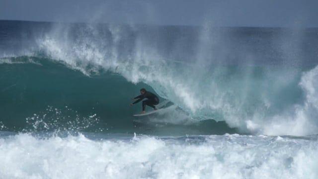 SURFING SHOREBREAK SLABS W/ BEAU CRAM