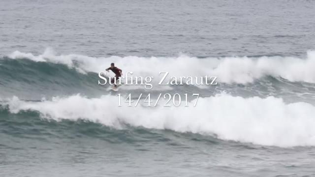 Surfing Zarautz 14:4:2017