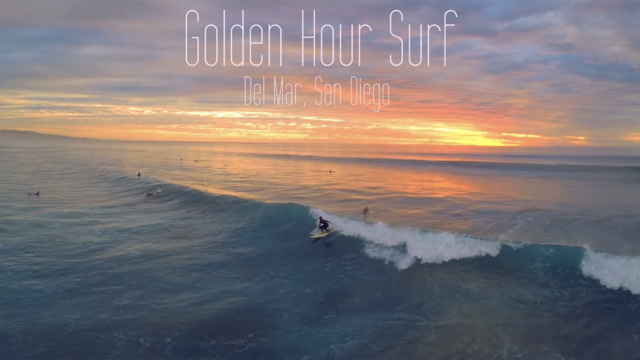 Golden Hour Surf From Above