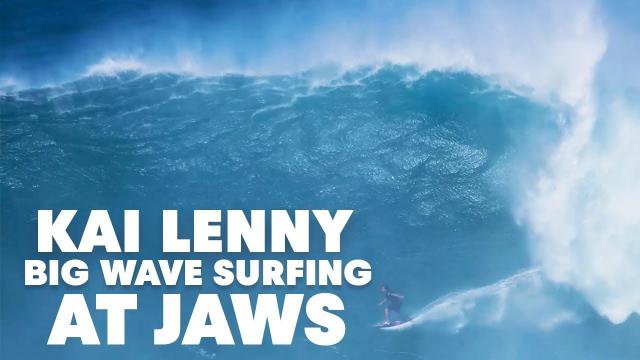 Go Behind Kai Lenny's 20ft Jaws Lip Drop