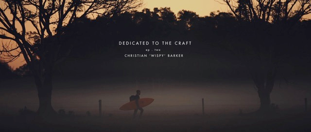 MCTAVISH - 'Dedicated to the Craft Series'  Episode two:  Christian Barker