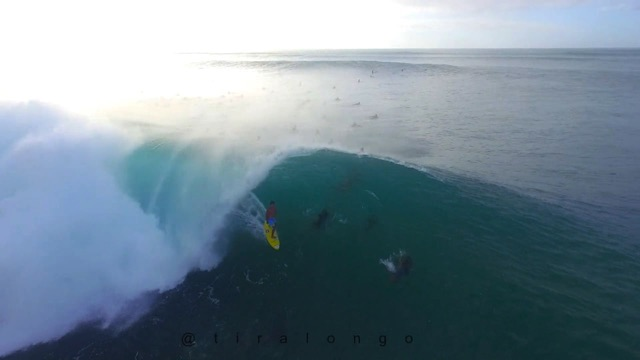 Banzai Pipeline Epic Drone footage from Dec 6th 2015