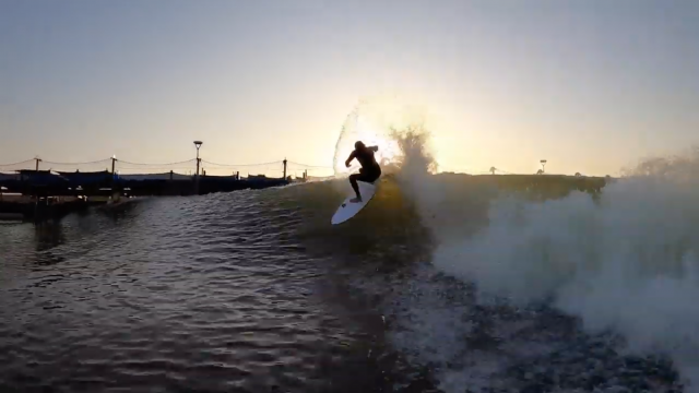 Sunrise at Surf Ranch: The Helium Hydroshort by Daniel 'Tomo' Thomson