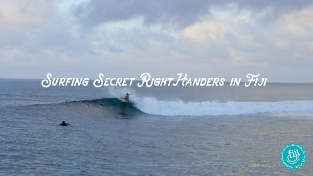 Surfing Secret Right Handers in Fiji