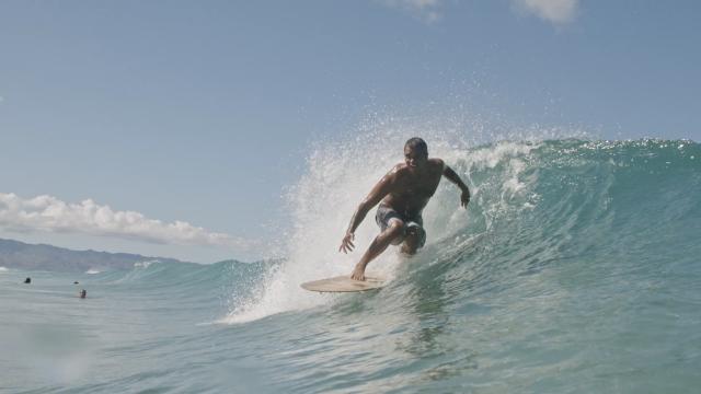 Aliaia Surfing with Ulu Boy