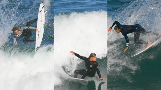 3 of the World's top 33 - Julian, Ryan and Morgan yesterday at Bar Beach