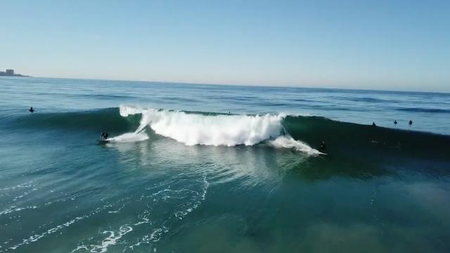 BLACK'S BEACH SURFING (5-7ft FAIR)