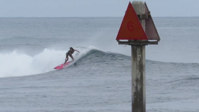 Leila Surfing May 2017