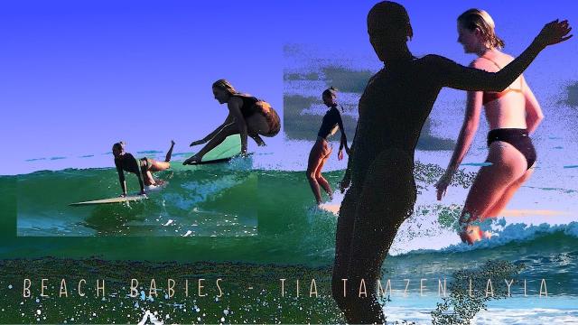 Beach Babies - Tia.Tamzen.Layla Longboard the Coffs Coast