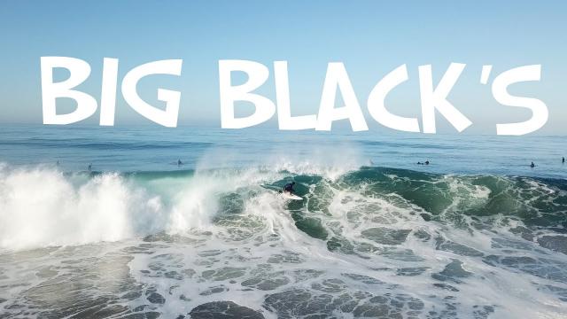 SURFING BIG WAVES at BLACK'S BEACH