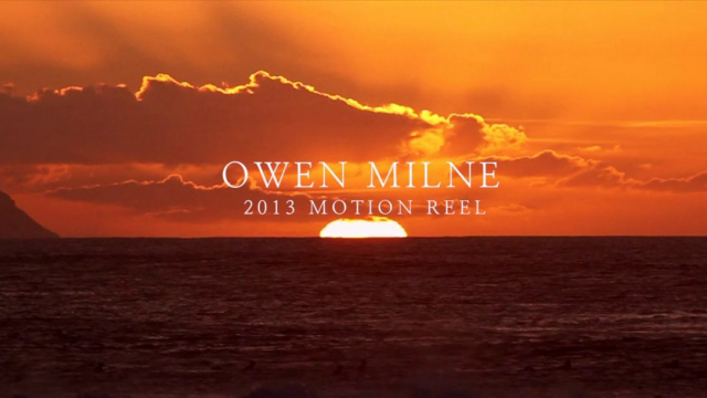 Owen Milne 2013 - Motion Reel
