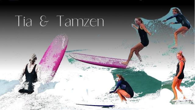 Longboarding with Tia and Tamzen.