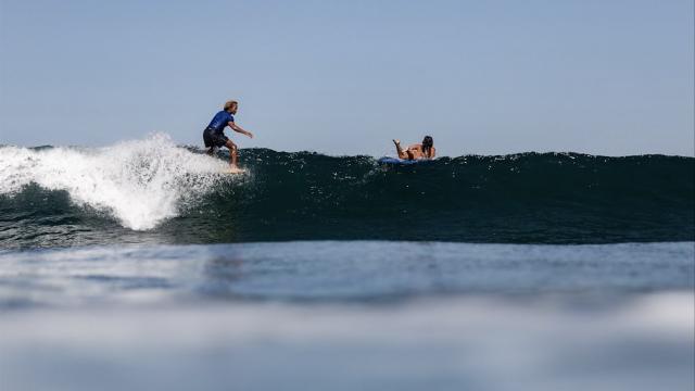 Surfing La Playa Saladita, Guerrero, Mexico