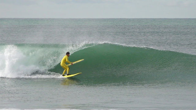 Scoring CLEAN waves at Trestles in January !!!