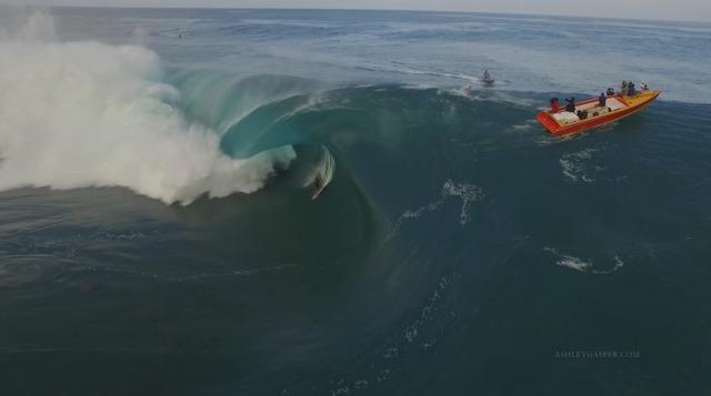 Surfing Teahupoo Tahiti Huge XXL Waves July 2015 Drone Footage