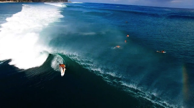 Epic Swell Hits Padang Padang in Bali, Indonesia for Rip Curl Expression Session