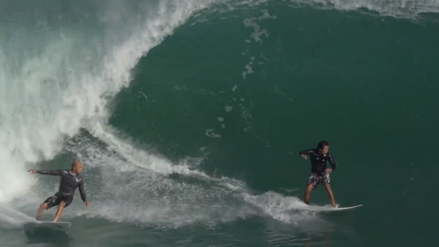 Kelly Slater Got Into Bali Somehow and Has Been Scoring Padang Padang | Amp Sessions