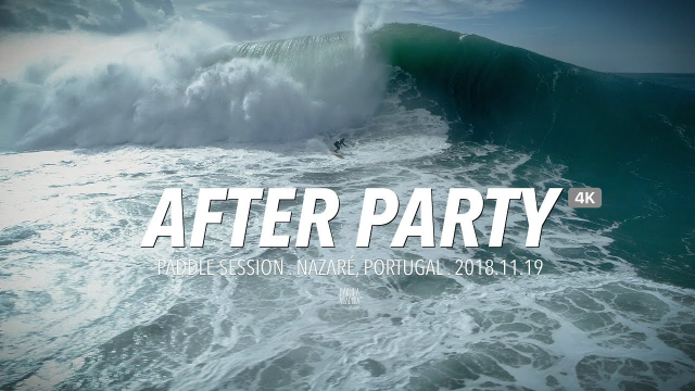 After Party - Big Wave Paddle Session @ Nazaré, Portugal [4K] #Drone