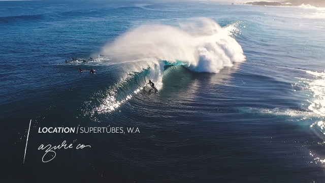 Drone footage of Surfing at Perfect Supertubes in Western Australia.