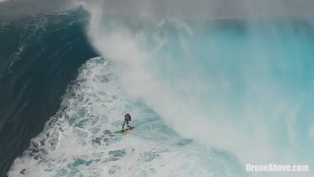 Jaws Tow In Febuary 25th Drone Footage
