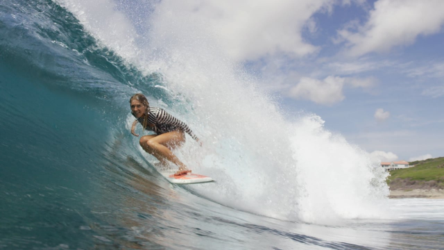 Stephanie Gilmore On A Rob Machado Single Fin For The Electric Acid Surfboard Test