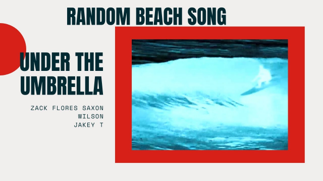 """under the umbrella"" and ""random beach song"" Music Video"