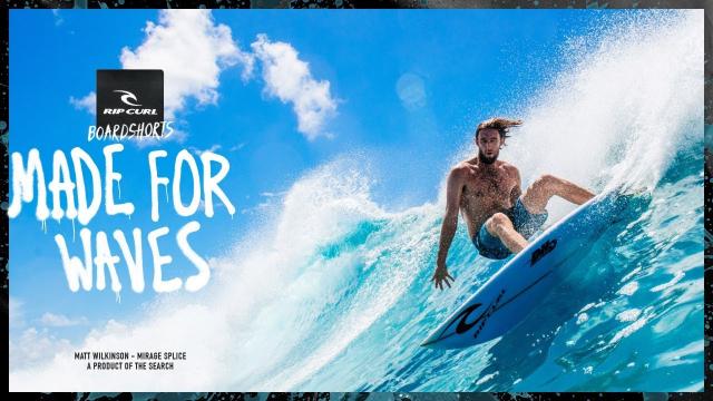 Matt Wilkinson   Made For Waves 2018   Mirage Splice Boardshort