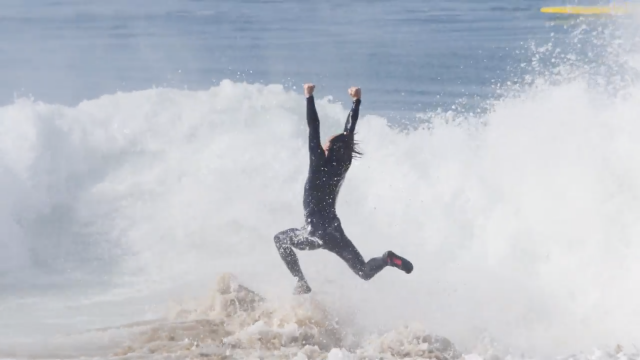 Brad Domke - EPIC Wave At The Wedge (Two Angles) Board Transfer To Skimboard