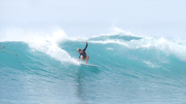 Sierra Kerr surfing Mentawaii's 2019 - 12 years old