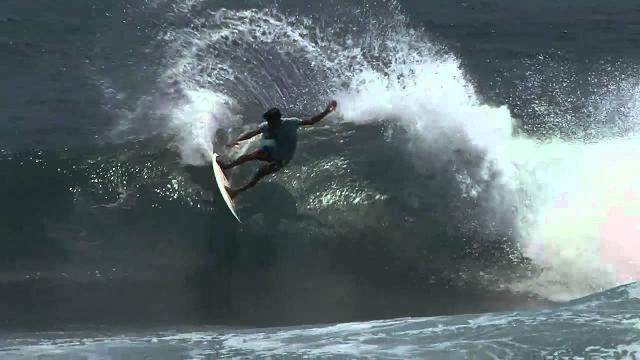 Jay Davies and Marlon Gerber surfing in Sumbawa