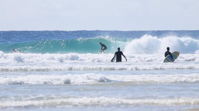 Ben Webb surfing at home, 5'5 Flatfish twin fin