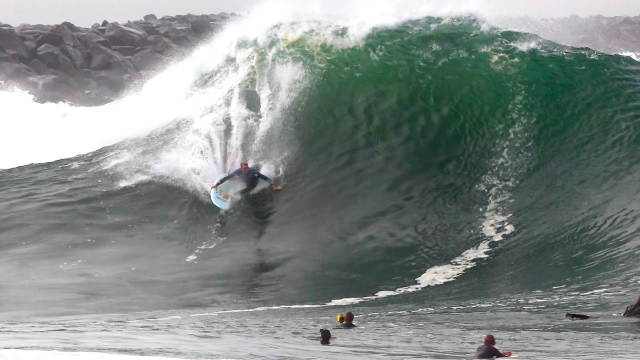 The Wedge is PUMPING New Big Swell!  (Raw Footage)