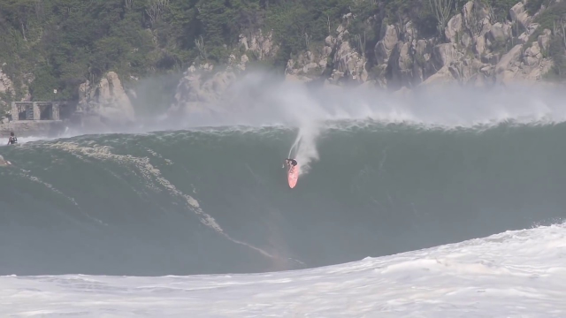 The Biggest Wave Ever Paddled Into By A Woman At Puerto Escondido