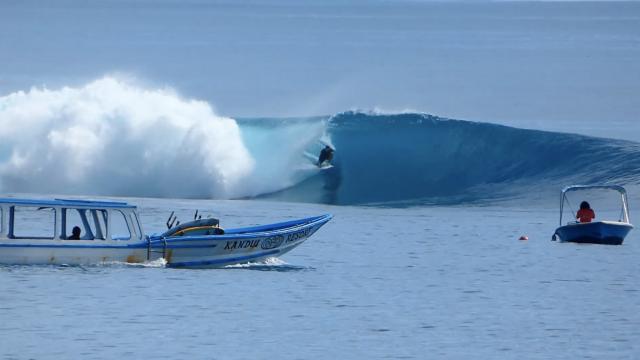 Maz Quinn and a month at WavePark Resort, Mentawais