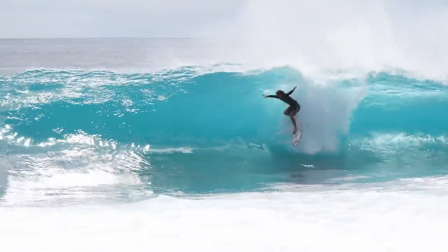 Mini Surfboard On The Reef - Mason Ho & Sheldon Paishon
