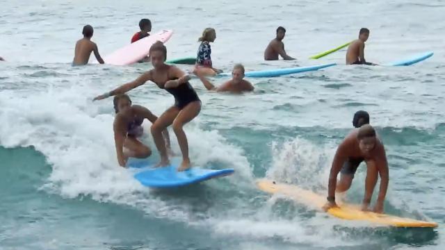 North Shore Junior Lifeguard Program Surf time! 2018