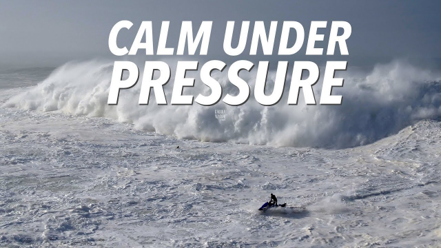Calm Under Pressure - Big Wave & Dramatic Rescue Sequence #Drone Nazaré, Portugal