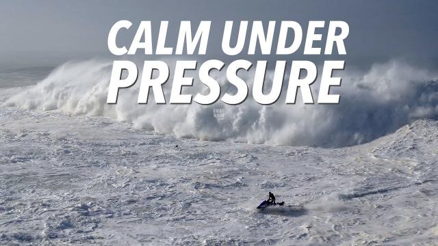 Calm Under Pressure - Big Wave & Dramatic Rescue Sequence #Drone Nazaré, Portugal
