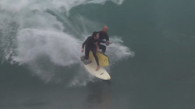 Surfers vs. Bodyboarders at The Wedge
