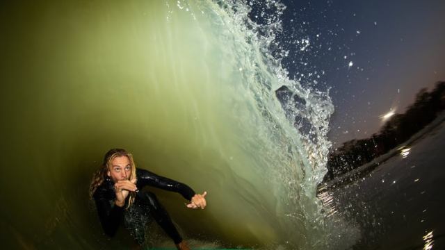 "How does skimboarder Blair Conklin ""surf"" a wave so well, starring ""A Wedge Affair"""